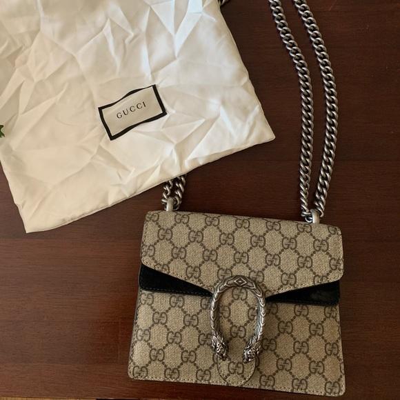 Gucci Handbags - GUCCI gg supreme dionysus small shoulder bag!
